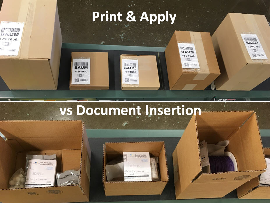 Print and Apply versus Document Insertion